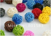 Fast drop ship 200pcs  5 CM Natural rattan ball  / floral hobby craft for house
