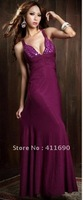 Deep V Neck Breast Dress back cross fishtail skirt