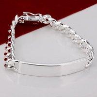 H182 Wholesale Wristband 925 Silver Bracelets Jewellery men new 2014 designer innovative items Male prata pulseras bijoux