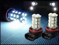 H11 27 SMD LED White Car Fog Head Light Lamp Bulb 12V Daytime Running Lights Free Shipping