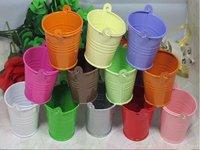 GAGA! bucket tin box Free shipping   tin box Mini  Pail Mint Tin Wedding Favors  ,12 colour mix batch , MG200