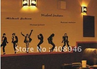 120180 Michael Jackson Wall sticker  / fridge magnet / removable wall stickers