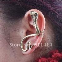 EC009,Ear Cuff Snake Earrings New design Fashion Earrings free shipping 2 COLORS