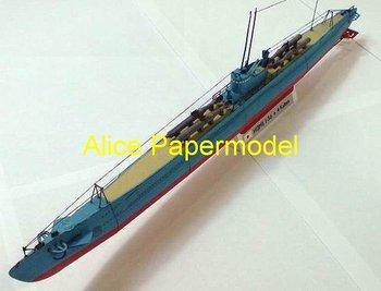 [Alice papermodel] Long 1 meter WWII Japan I-36 I36 Kaiten suicide submarine battleship boat models