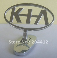KIA METAL HOOD FRONT 3D LOGO CAR BADGE ORNAMENT EMBLEM SILVER