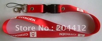 CITROEN CAR MOBILE CELL PHONE NECK STRAP LANYARD red with buckle keyring