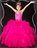 Christmas Fushcia Flower Girl Dress Girl Skirt Princess Skirt Party Skirt Pageant Skirt Custom SZ 2 4 6 8 10 12 14 JL708023
