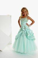 Christmas Green Flower Girl Dress Girl Skirt Princess Skirt Party Skirt Pageant Skirt Custom SZ 2 4 6 8 10 12 14 JL708012