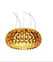 Christmas gift New FOSCARINI Style Living room Lamps dia 50cm gold Caboche Acrylic Ball  Ceiling Lights