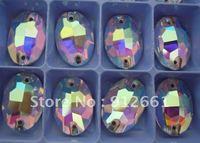 Джет гематит шить на камне с падение формы size11 * 18 мм для одежды