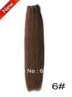 100% chinese remy human hair weaving dark brown straight  hair weft high quality