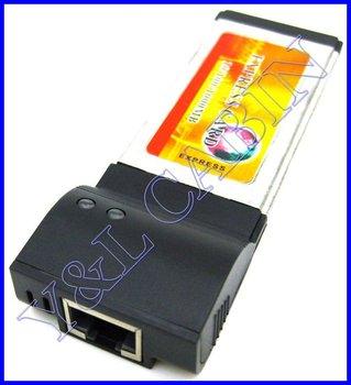 1000M 1000Mbps Gigabit Network LAN Ethernet to ExpressCard Express Card 34 34mm Adapter Converter, Realtek RTL8111C Chipset