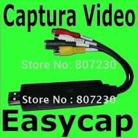 Easycap NEW EASY CAP USB 2.0 RCA S-VIDEO AUDIO AV CAPTURE DEVICE SHIPPING Tarjeta Capturadora Usb 2.0 Rca S-video Audio Video