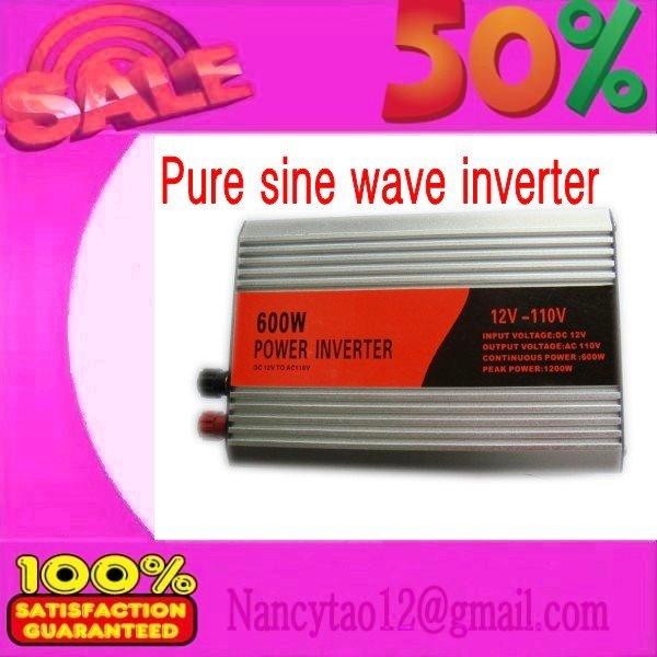 Fedex freeshipping! 600W Off Pure Sine Wave Power Inverter, 1200W Peak power inverter, Solar&Wind Inverter(China (Mainland))