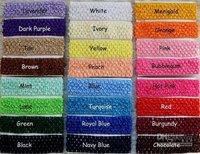 800pcs 1.5 Inch Crochet Headbands Girls U Pick Colors Headbands Girl Hair Bow Headband Hairbow