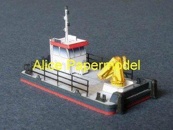 [Alice papermodel] Long 8CM mini engineer battleship warship models