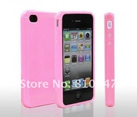 Free shipping 30pcs/lot Candy Cases For iPhone 4 4S cell Phone soft TPU bumpers shell cover