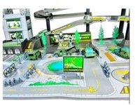 Children's toys assembled military base model / garage parking building military model toys, assembling toys