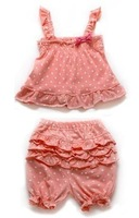 2014 new bebe fashion infantil girl outfit 100% cotton clothing sets summer clothing baby girls 3-24month free shipping TZ098