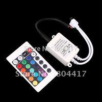 Free Shipping+ High Quality!!!  2012 New Fashion 5Pcs12V 24 Keys IR Remote Controller for SMD 3528 5050 RGB LED SMD Strip Lights