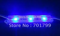 3pcs 5050 SMD LED module,plastic case,BLUE color,DC12V,20pcs a string;75mm*12mm
