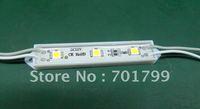3pcs 5050 SMD LED module,plastic case,WARM WHITE color,DC12V,20pcs a string;75mm*12mm