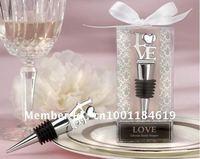 100pcs/lot Wholesale --LOVE Chrome Wine Bottle Stopper