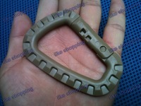 3pcs/lot Grimloc Carabiner D-Ring tan