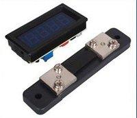 Free shipping,Blue LED 0~100A DC Digital Panel Ammeter AMP Ampere Meter + 100A/75mV Shunt