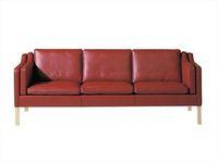Modern Designer Leather Sofas/full brown aniline leather/Borge Mogensen 3 pers sofa model No. 2213/sectional corner sofas