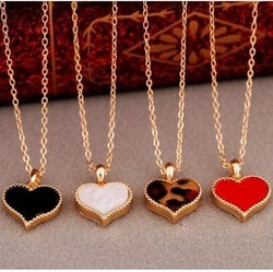 Four Leaf Clover Pendant Heart Necklace, Ladies Fashion Jewelry,Free shipping(N290)(China (Mainland))