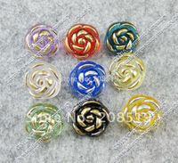 NB091 Acrylic buttons flower style 12.5mm Transparent  mixed colors 450pcs/lot dress&shirt buttons