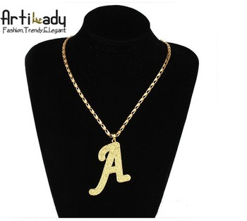 Artilady 18kGP character letter A chains necklaces man chains necklaces 18k gold jewelry chains necklaces