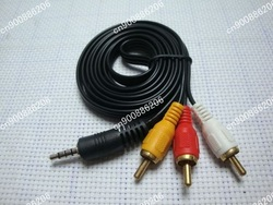 3.5mm Jack to 3 RCA Adapter Cable Audio Video AV(China (Mainland))