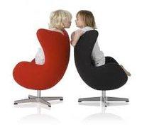 Child Egg Chair (1 piece/ctn) Arne Jacobsen Leather egg chair/ Swivel and Tilt