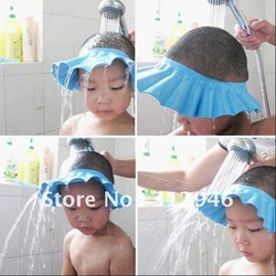 Baby Child Kid Shampoo Bath Shower Wash Hair Shield Hat Cap Yellow / Pink / Blue,5pcs/lot, freeshipping, dropshipping(China (Mainland))