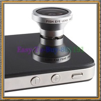 180 Angle wide Fisheye fish eye lens for iphone 4 cellphones cameras with Retail Package
