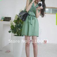 Chiffon skirt skirt with beltA222