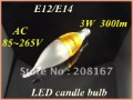 10pcs/lot 300lm 3W E12/E14 LED Light Bulb,LED candle bulb optional lamp base/Warm white