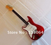 Free shipping,Left Handed and High Quality Electric Guitar ,Professional Performance Level,Red Color 38.6-Y#