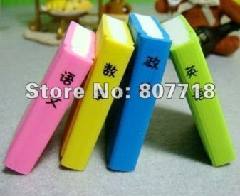 CPAM FREE SHIPPING!!! Wholesale, WJ0094, Super Cute Eraser,Textbooks shape eraser,rubber eraser,best for children.(China (Mainland))
