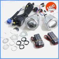 Sales Off!Mini universal bi-xenon projector lens light with angel eyes kit ID173005