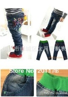 free shipment autumn winter style letter shape 5pcs/lots  kid's jeans pants wholesales168