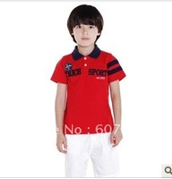 The summer 2012 new boy children red sports T-shirt