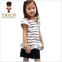 Children's clothes 2012 summer British wind new girls pure cotton short pants