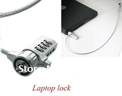 Free Shipping!High Quality,Notebook Laptop Computer Lock security steel Cable 3pcs/lot LAPTOP Password LOCK(China (Mainland))
