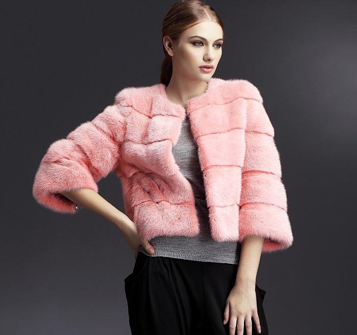 Images of Pink Mink Coat - Reikian