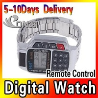 Multi Functional TV DVD SAT Sets Remote Control Digital Calculator Electronic Remote Control Watch 5pcs/lot