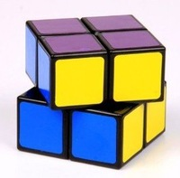 Lanlan 2x2 Speed Cube Black Magic Cube Puzzle (Free US Domestic Shipping)           M036