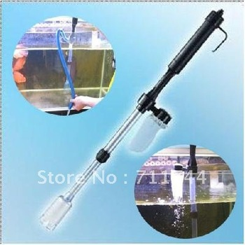 free shipping/ Aquarium Battery Syphon Auto Fish Tank Vacuum Gravel Water Filter Cleaner Washer
